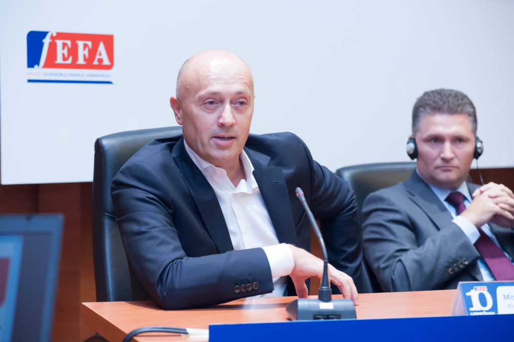 Miodrag Kostić  na proslavi 10-ogodisnjice FEFE