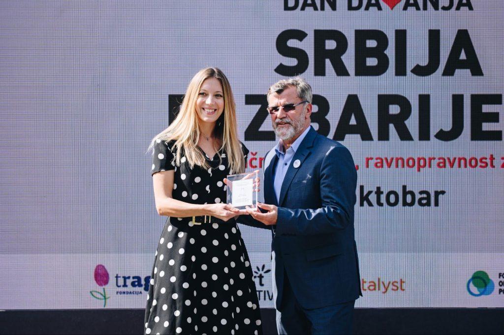 MK Group dobitnik povelje Srbskega filantropskega foruma in Sklada B92