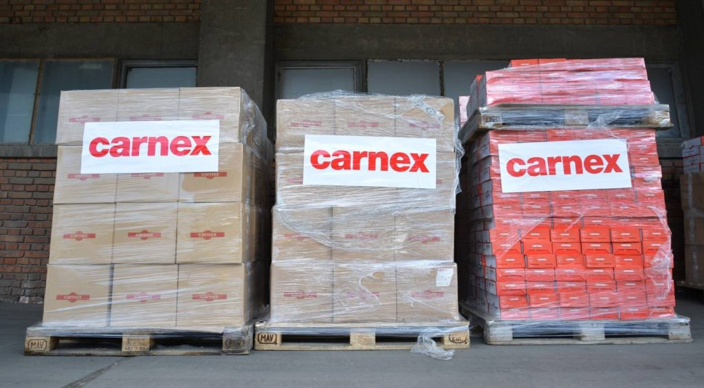 Carnex donated another 7.6 tons of products to the Food Bank