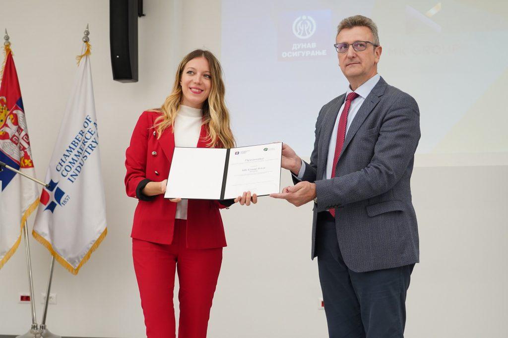 MK Group dobitnik priznanja Privredne komore Srbije za društvenu odgovornost